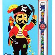 Baby-Watch-606016-Corsaire-Montre-Garon-Quartz-Pdagogique-Cadran-Rouge-Bracelet-Plastique-Bleu-0-0
