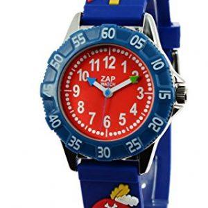 Baby-Watch-606016-Corsaire-Montre-Garon-Quartz-Pdagogique-Cadran-Rouge-Bracelet-Plastique-Bleu-0