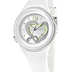 Calypso-watches-K55761-Montre-Fille-Quartz-Analogique-Bracelet-Caoutchouc-Blanc-0