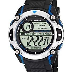 Calypso-watches-K55772-Montre-Garons-Quartz-Digitale-AlarmeChronomtreEclairage-Bracelet-Caoutchouc-Noir-0