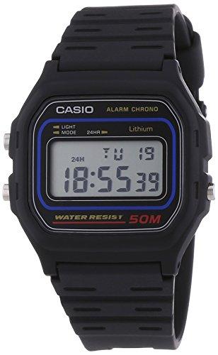 Casio-Vintage-Montre-Mixte-Quartz-Digital-Cadran-LCD-Bracelet-Rsine-Noir-0