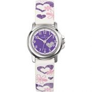 Certus-647457-Montre-Enfant-Quartz-Analogique-Cadran-Violet-Bracelet-Cuir-Blanc-0
