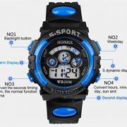 Fulltime-Etanche-Boy-Enfants-Quartz-numrique-LED-Alarm-Date-poignet-montre-de-sport-0-0