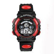 Fulltime-Etanche-Boy-Enfants-Quartz-numrique-LED-Alarm-Date-poignet-montre-de-sport-0