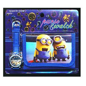 Mprisable-Me-2-1-Enfants-Montre-Porte-feuille-Set-Pour-Enfants-Garons-Filles-Cadeau-Nol-Cadeaux-Vendu-par-Happy-Bargains-Ltd-0