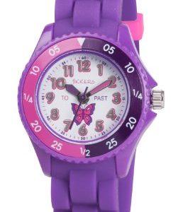 Tikkers-TK0041-Montre-Fille-Quartz-Analogique-Bracelet-Caoutchouc-Violet-0