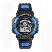 Tonsee-Impermables-enfants-garon-Digital-Quartz-LED-alarme-Date-Sports-montre-bracelet-0