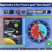 Baby-Watch-606108-Espace-Montre-Garon-Quartz-Pdagogique-Cadran-Bleu-Bracelet-Plastique-Multicolore-0-0