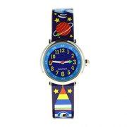 Baby-Watch-606108-Espace-Montre-Garon-Quartz-Pdagogique-Cadran-Bleu-Bracelet-Plastique-Multicolore-0