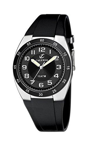 Calypso-watches-K6044B-Montre-Garons-Quartz-Analogique-Bracelet-Caoutchouc-Noir-0