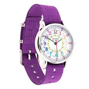 Montre-pour-enfants-EasyRead-Time-Teacher--affichage--numrique--12-et-24-heures-cadran-aux-couleurs-de-larc-en-ciel-bracelet-violet-0