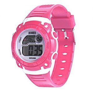 Ouneed-Enfants-Filles-Quartz-numrique-LED-Alarm-Date-poignet-montre-de-sport-rose-0