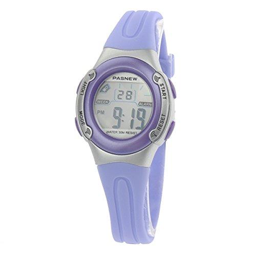 Pixnor-PASNEW-PSE-226-impermables-enfants-garons-filles-LED-Digital-Sport-Watch-avec-Date-Alarm-Chrono-Violet-Clair-0