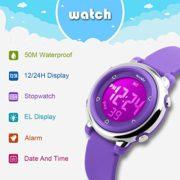 BesWLZ-Montres-Enfants-Digitale-Sport-Fille-Garon-chrono-alarme-etanche-Montres-Violet-0-0