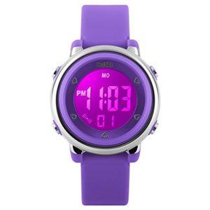 BesWLZ-Montres-Enfants-Digitale-Sport-Fille-Garon-chrono-alarme-etanche-Montres-Violet-0