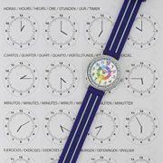 Montre-garon-pour-enfants-APPRENDRE-LHEURE-dans-une-bote-cadeau-AVEC-EXERCICES-rsistant–leau-quartz-mcanisme-Seiko-Pile-Sony-bleu-Premier-Time-Teacher-de-Kiddus-0-0