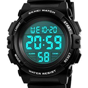 ENFANTS-Digital-montres-pour-garons-tanche-montre-de-sport-avec-alarmeTimer-Noir-pour-enfants-extrieur-lectronique-Sport-Digital-montres-pour-Teenages-garons-Vendu-par-UEOTO-0