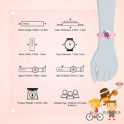 Hiwatch-Montre-Enfant-Lumires-Numrique-LED-Multifonctionnelle-Rsistante–lEau-Montres-Poignet-Temps-Cadeau-pour-Garons-Filles-Petits-Enfants-Rose-0-0