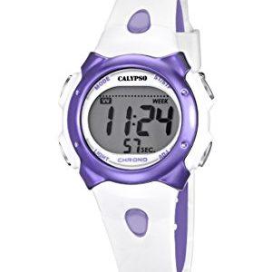 Calypso-K56092-Montre-Mixte-Quartz-Digitale-Alarme-Chronomtre-Bracelet-Plastique-Blanc-0