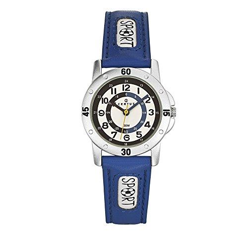 Montre-Mixte-Enfant-Certus-Junior-Quartz-Affichage-Analogique-bracelet-PU-Bleu-et-Cadran-Blanc-647541-0