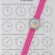 Montre-fille-pour-enfants-APPRENDRE-LHEURE-dans-une-bote-cadeau-AVEC-EXERCICES-rsistant–leau-quartz-mcanisme-Seiko-Pile-Sony-rose-Premier-Time-Teacher-de-Kiddus-0-0