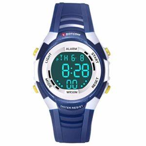 Montre-Ado-Garon-Montre-Enfant-Montres-Numriques-pour-Garons-Enfants-Sport-5-ATM-Etanche-avec-ChronomtreLumires-De-Fond-Color-Montre-Numrique-Extrieure-Bleu-fonc-0