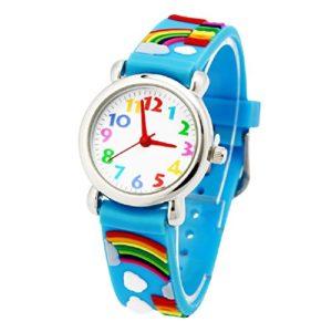 Montre-dEnfants-Vinmori-Hydrorsistant-3D-Montre--Quartz-de-Dessin-Anim-Mignon-Cadeau-pour-Les-Enfants-Garons-Filles-Rainbow-Blue-0