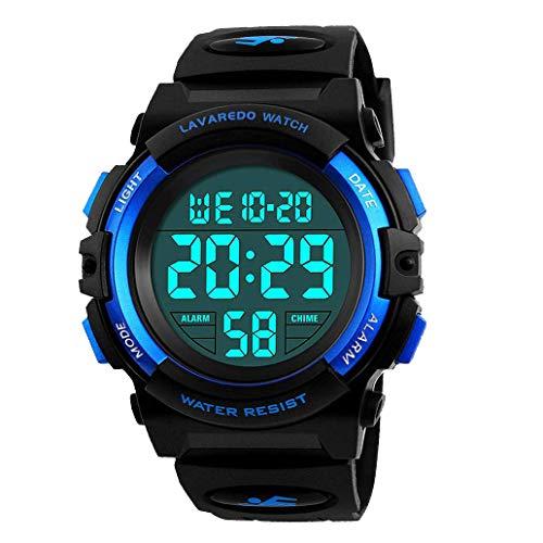 Montre-Enfant-Garon-Adolescent-Digitale-Outdoor-Sport-Multifonction-tanche-LED-Lumire-Alarme-Calendrier-Date-avec-Bande-de-Silicone-Bleu-0